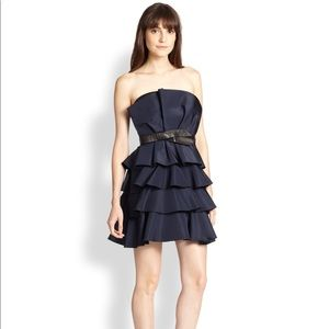 NWOT Rebecca Taylor Tiered Ruffled Strapless Dress
